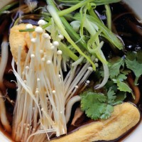 Mushroom Broth + Fried Tofu + Udon Noodles